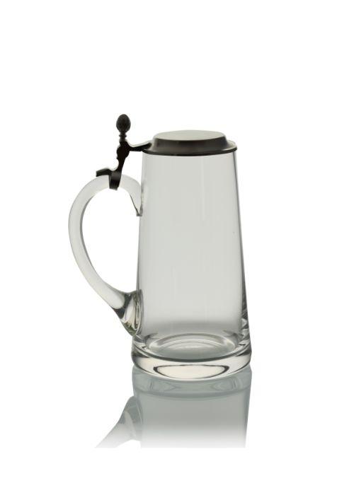 Bierkanne mit Flachdeckel 1000ml