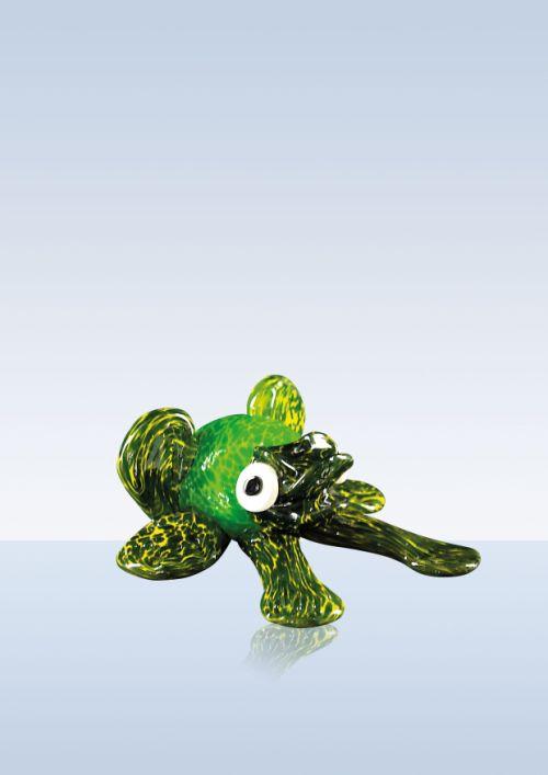 Froschfigur mundgeblasen grün