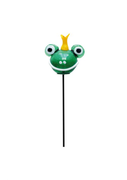 Gartenobjekt Froschkönig mundgeblasen