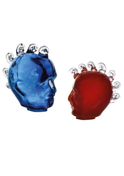Glaskopf Unikat mundgeblasen