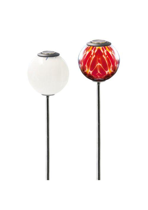 Gartenkugel mit LED Solar mundgeblasen