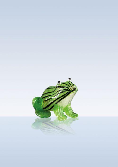Frosch grün gestreift schwarz